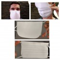 Reusable mask with front coating